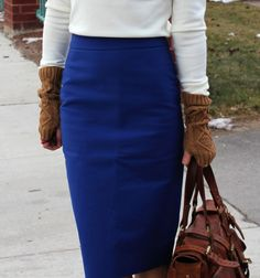 the long pencil skirt..good length & not too tight!