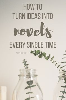 Ever get those little ideas that are great, but you don't know what to do with them? Here's how you can take that nugget and make it a real novel!