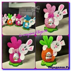 Bunny Crafts, Easter Crafts For Kids, Felt Crafts, Diy And Crafts, Paper Crafts, Children's Day Gift, Green Craft, Easter Baskets, Easter Bunny