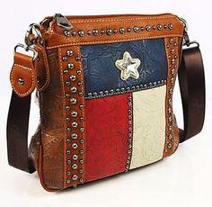 Montana West Concealed Carry Texas Flag Star Gun Cross Body Bag Western Purse | eBay
