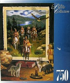 The Puzzle Collection 750 Piece Jigsaw Puzzle Spirit Guides Indians Wolf Wolves #97325 by Warren Industries, http://www.amazon.com/dp/B00C1F9BCK/ref=cm_sw_r_pi_dp_AzP7rb1XW0BTQ