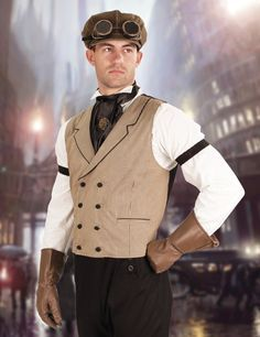 What an excellent vest to wear, when out for your Sunday stroll or even a night on the town. The double-breasted design gives a smart look, while the black piping on the collar and pockets and cloth-c