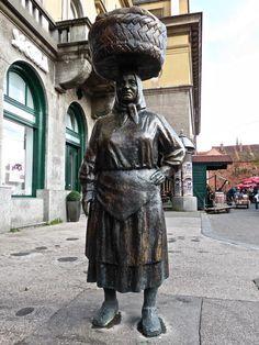 Statue of Kumica Barica - Zagreb, Croatia