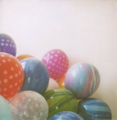marbled balloons!