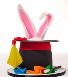 Magic-hat-cake rabbit-in-hat-cake magician-cake