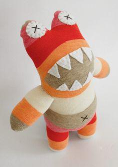 Sock monster free pattern