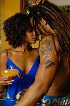 Twist out, locs, intimacy love - SEXY! Black Love, My Black Is Beautiful, Beautiful Couple, Black Men, Simply Beautiful, Black Girls, Black Couples, Cute Couples, Dreads