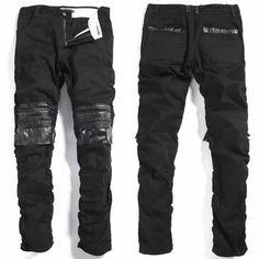 Men Black Slim Fit Boot Cut Gothic Punk Rock Fashion Pants Trousers SKU-11404287