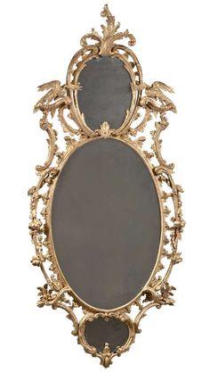 1stdibs | Three Plate Rococo Oval Mirror