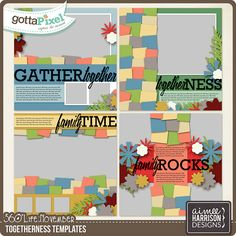 360°Life November: Togetherness Templates :: Gotta Pixel Digital Scrapbook Store by Aimee Harrison $3.99
