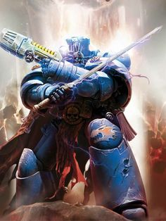 Graham McNeill - Warhammer Wiki - Space Marines, Chaos, planets, and Warhammer Fantasy, Warhammer 40k Art, Space Marine Librarian, Warhammer 40k Salamanders, Into The Fire, Cool Artwork, Models, Game Art, Nocturne