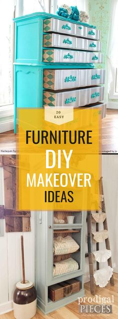 here are a few furniture makeovers that entirely repurposed the furniture and will leave you in awe: Repurposed Furniture, Furniture Makeover, Diy, Inspiration, Biblical Inspiration, Bricolage, Do It Yourself, Reclaimed Furniture, Furniture Redo