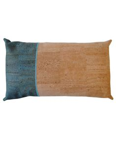 Swap the traditional silks and cottons for something a little more unique with this Rio rectangular cushion by Mind the Cork. With its two-tone design and decorative stitching, this cushion is actually made out of cork fabric, making it durable and eco-friendly.