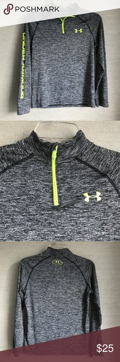 Boys Under Armour UA Tech ¼ Zip Shirt is in near new condition! Loose: Fuller cut for complete comfort. UA Tech™ fabric is quick-drying, ultra-soft & has a more natural feel Moisture Transport System wicks sweat & dries fast Anti-odor technology prevents the growth of odor causing microbes Under Armour Shirts & Tops Tees - Short Sleeve