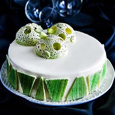 """Cake """"La Bayadere"""" with rhubarb, passion fruit and white chocolate by French pastry chef Pierre Hermé. (in Russian with translator) French Patisserie, French Bakery, French Pastries, Baking And Pastry, Pastry Chef, French Desserts, Fun Desserts, La Bayadere, Decoration Patisserie"""