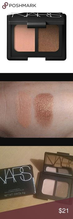 NARS Key Largo Eye-shadow Palette Compact New Brand new in box. NARS Cosmetics eye-shadow palette duo in mirrored compact. Color is Key Largo  *This has NOT been swatched, swatch pic grabbed from Google for your convenience NARS Makeup Eyeshadow
