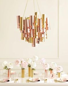 DIY Metallic Chandelier How-To