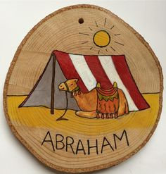 Abraham - from a commissioned set of Jesse Tree symbols for Advent Jessie Tree Ornaments, Jesse Tree Symbols, Tent Drawing, Tree Tent, Bible Art, Kids And Parenting, Advent, Camel, Christmas Decorations
