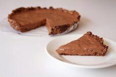 Glutenvrije rauwe chocoladetaart