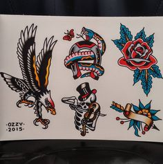 I spend a lot of time looking at tattoos posted on social media. Traditional Tattoo Black And White, Traditional Eagle Tattoo, Traditional Tattoo Design, Traditional Japanese Tattoos, Traditional Tattoo Flash, American Traditional, Eagle Tattoos, Old Tattoos, Black Ink Tattoos