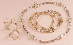 Jewelry Making Idea: Golden Jewelry Set (eebeads.com)
