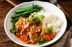 Slow-cooker panang chicken curry
