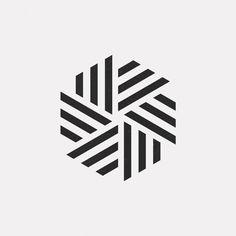 A new geometric design every day - Logos Geometric Logo, Geometric Designs, Geometric Shapes, Logo Design Inspiration, Icon Design, Muster Tattoos, Logo Shapes, Stencil Designs, Mandala Design