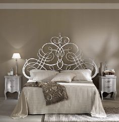Image detail for -... silver leaf bed 204 x 205 x h180 cm rafaello bedside tables in ivory