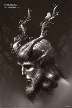 "Faun of Healwood: Creature Concept by Christopher Balaskas 2015 digital paint created for the film project ""The Faun of Healwood"" which is campaigning for production funds now...."