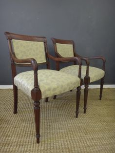 These vintage Greek arm chairs held a lot of sentimental value to our clients, but the finish, frame and the upholstery were in serious disrepair. After repairs, a refreshed finish, and updated fabric, we were very happy with the results.