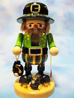 Christian Steinbach St. Patricks Day Wooden Nutcrackers, Smokers, and Ornaments