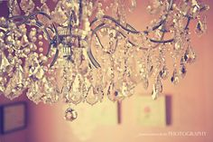 vintage chandelier - great for girlie nursery artwork