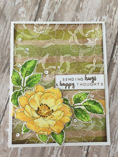 Sending Hugs handmade card with Altenew's Beautiful Day stamps and dies; Distress Inks