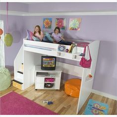 Depiction of Berg Loft Bed Selections with Optional Features