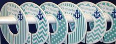 6 Custom Baby Closet Dividers in Aqua Navy Nautical Anchors Ocean Sea Baby Boy Girl Shower Gift Nursery Baby Clothes Organizers on Etsy, $18.00