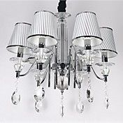 Modern Cystal Chandelier with 6 Lights in Sil... – USD $ 279.99