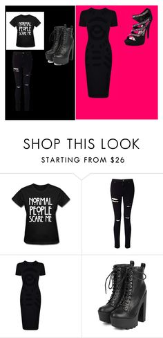 """Day Vs. Night"" by raya-grey on Polyvore featuring Miss Selfridge, McQ by Alexander McQueen and Breckelle's"