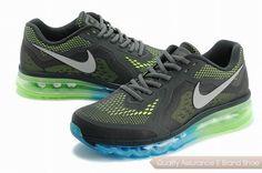 online retailer 50217 58d78 nike air max 2014 kpu mens grat green sneakers p 2357