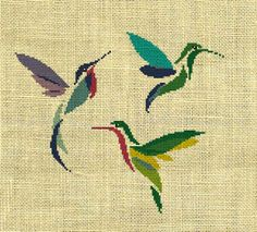 Hummingbirds, Cross Stitch Design https://www.etsy.com/shop/crossstitchgarden?ref=l2-shopheader-name