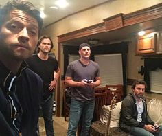 """Supernatural on Instagram: """"Misha on Twitter: """"Nice teaser, Jared and Jensen , looks like all those jazzercise classes paid off! """" Whose guitar is that?  #redmeat #JensenAckles #Jensen #DeanWinchester #Dean #JaredPadalecki #Jared #Sam #SamWinchester #MishaCollins #Misha #Castiel #Cass #cas #robbenedict #chuck #supernatural #SPN #SPNfamily #supernaturalfandom #SPNfandom Credit : Twitter : MishaCollins """""""
