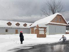 Winter visualization, reconstruction farmhouse.