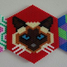 Siamese kitty perler