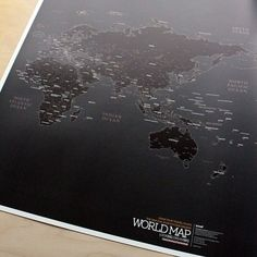 I want this wall map.