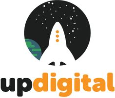 Flat, modern Logo design for UP Digital.