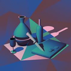 <p>After travels to New York and London, Spanish illustrator settled in France. Apart from his own production company, he looks into animation. The recent series of still lifes 'Nature Morte' is a tri