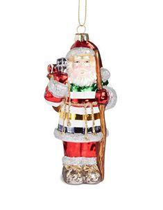 HBC | HBC | Glass Santa Ornament | Hudson's Bay