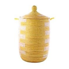 African Basket - Yellow - Medium - Fair Trade