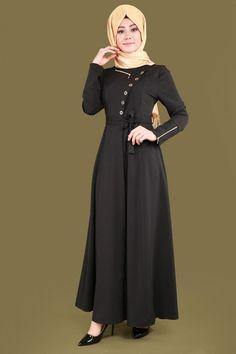Fermuar Detay Mevlana Ferace AH3040 Siyah Goth, Fashion, Gothic, Moda, Fashion Styles, Goth Subculture, Fashion Illustrations