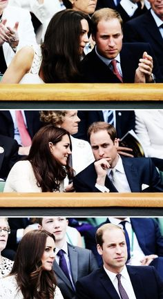 The Duke and Duchess of Cambridge at Wimbledon in 2011, 2012 and 2014.