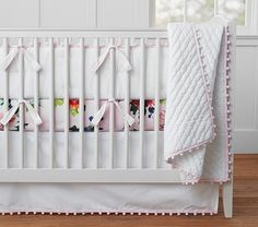 Organic Pom Pom Nursery Bedding | Pottery Barn Kids